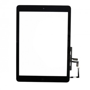 iPad Air Touchscreen Glas Digitizer Schwarz Vormontiert