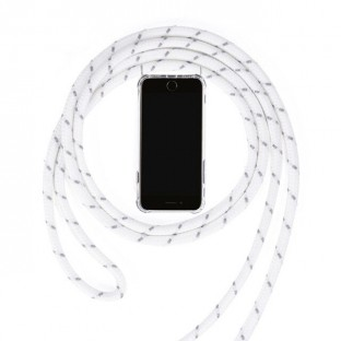 iPhone Xr Necklace Rubber Mobile Phone Case with Cord White