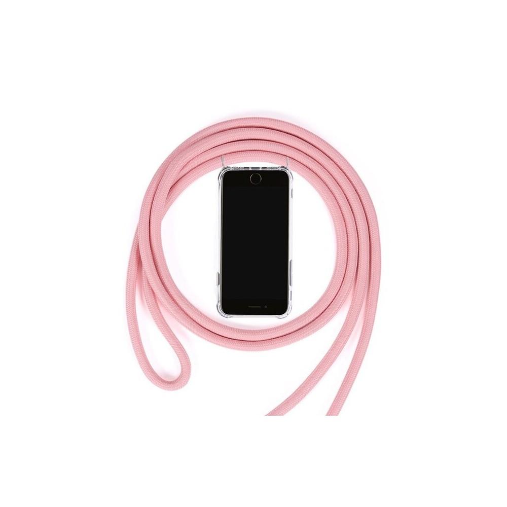 iPhone Xs Max Necklace Handyhülle aus Gummi mit Kordel Rosa