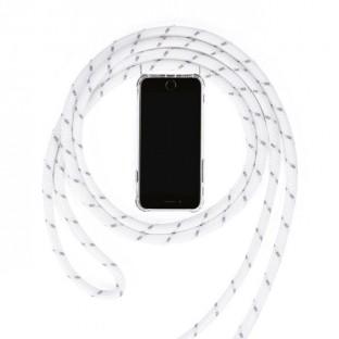 iPhone 7 / 8 Necklace Handyhülle aus Gummi mit Kordel Weiss