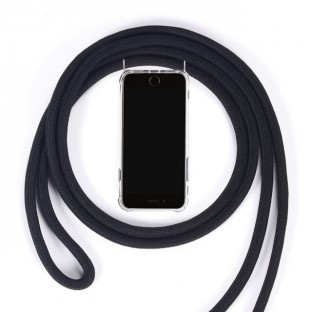Huawei P30 Pro Necklace Handyhülle aus Gummi mit Kordel Rosa