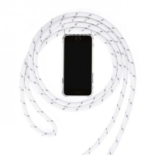 Huawei Mate 20 X Necklace Rubber Mobile Phone Case with Cord White