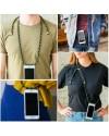 Samsung Galaxy S8 Necklace Handyhülle aus Gummi mit Kordel Rosa