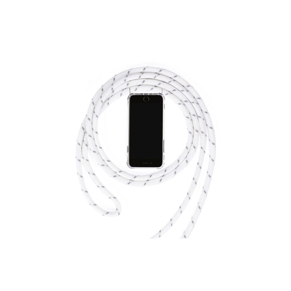 Samsung Galaxy S9 Necklace Rubber Mobile Phone Case with Cord White