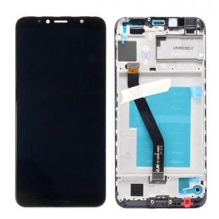 Huawei Y6 (2018) Ersatzdisplay mit Rahmen Blau LCD Digitizer