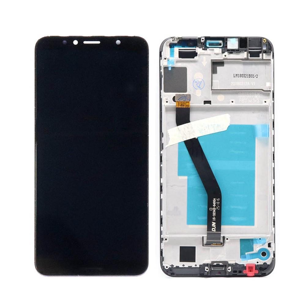 Huawei Y6 (2018) Ersatzdisplay mit Rahmen Weiss LCD Digitizer