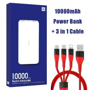 Powerbank 10000mAh Xiaomi Redmi Double chargeur USB Charge rapide