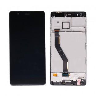 Huawei P9 LCD Ersatzdisplay Schwarz mit Rahmen vormontiert Komplettdisplay