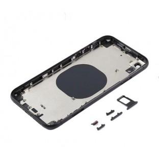 iPhone 8 Backcover / Rückschale mit Rahmen vormontiert Schwarz