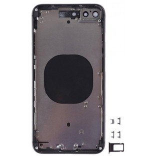iPhone 8 Plus Back Cover / Back Shell with Frame Pre-Assembled Black (A1864, A1897, A1898)