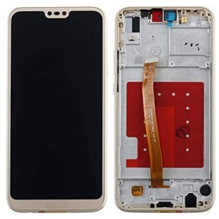 Ersatzdisplay für Huawei P20 Lite LCD Digitizer + Rahmen vormontiert Gold