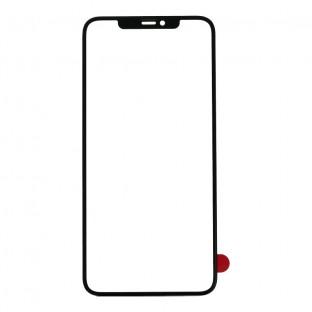 Glas mit Rahmen für iPhone 11 Schwarz