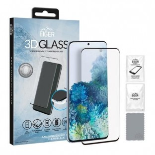 Eiger Samsung Galaxy S20 3D Glass Display Schutzglas für die Nutzung mit Hülle geeignet (EGSP00569)