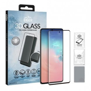 Eiger Samsung Galaxy S10 Lite 3D Glass display protection glass suitable for use with cover (EGSP00577)