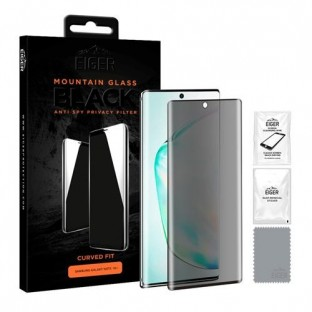 Eiger Samsung Galaxy Note 10 Plus 3D Privacy Display Protective Glass Suitable for Use with Sleeve (EGSP00533)