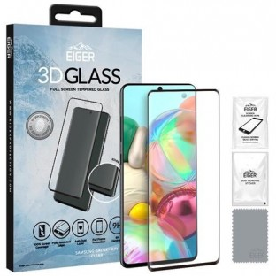 Eiger Samsung Galaxy A71 3D Glass display protection glass suitable for use with cover (EGSP00572)