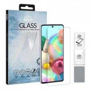 """Eiger Samsung Galaxy A71 Display Protection Glass """"2.5D Glass clear"""" (EGSP00574)"""