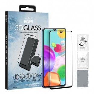 Eiger Samsung Galaxy A41 3D Glass display protection glass suitable for use with cover (EGSP00591)