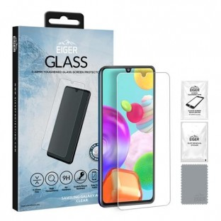 """Eiger Samsung Galaxy A41 Display Protection Glass """"2.5D Glass clear"""" (EGSP00596)"""