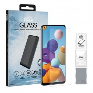 """Eiger Samsung Galaxy A21s Display Protection Glass """"2.5D Glass clear"""" (EGSP00615)"""