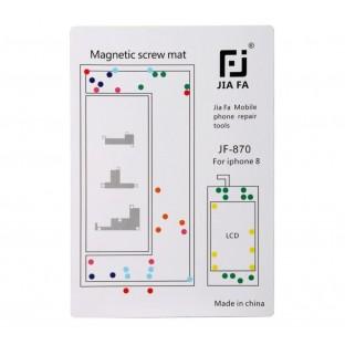 Magnetische Schraubenhalter-Matte für iPhone 8