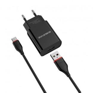 Chargeur USB-C Borofone BA20A Noir