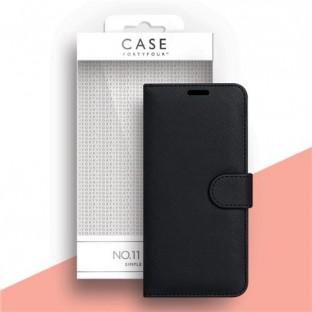 Case 44 faltbare Hülle mit Kreditkarten-Halterung für das Samsung Galaxy A41 Schwarz (CFFCA0440)
