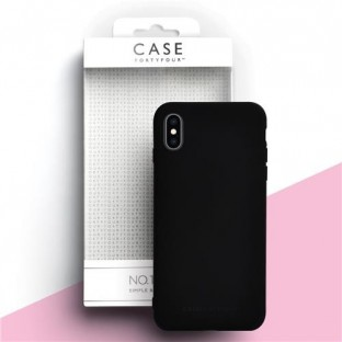 Case 44 Silikon Backcover für iPhone XS / X Schwarz (CFFCA0270)