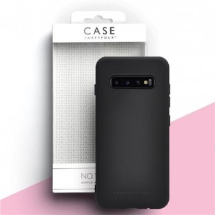 Case 44 Silikon Backcover für Samsung Galaxy S10 Schwarz (CFFCA0320)