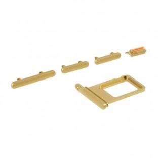 Sim Tray Karten Schlitten Adapter mit Power, Volume und Mute Button für iPhone 11 Gelb (A2111, A2223, A2221)