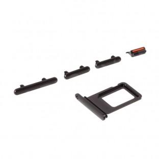 Sim Tray Karten Schlitten Adapter mit Power, Volume und Mute Button für iPhone 11 Schwarz (A2111, A2223, A2221)