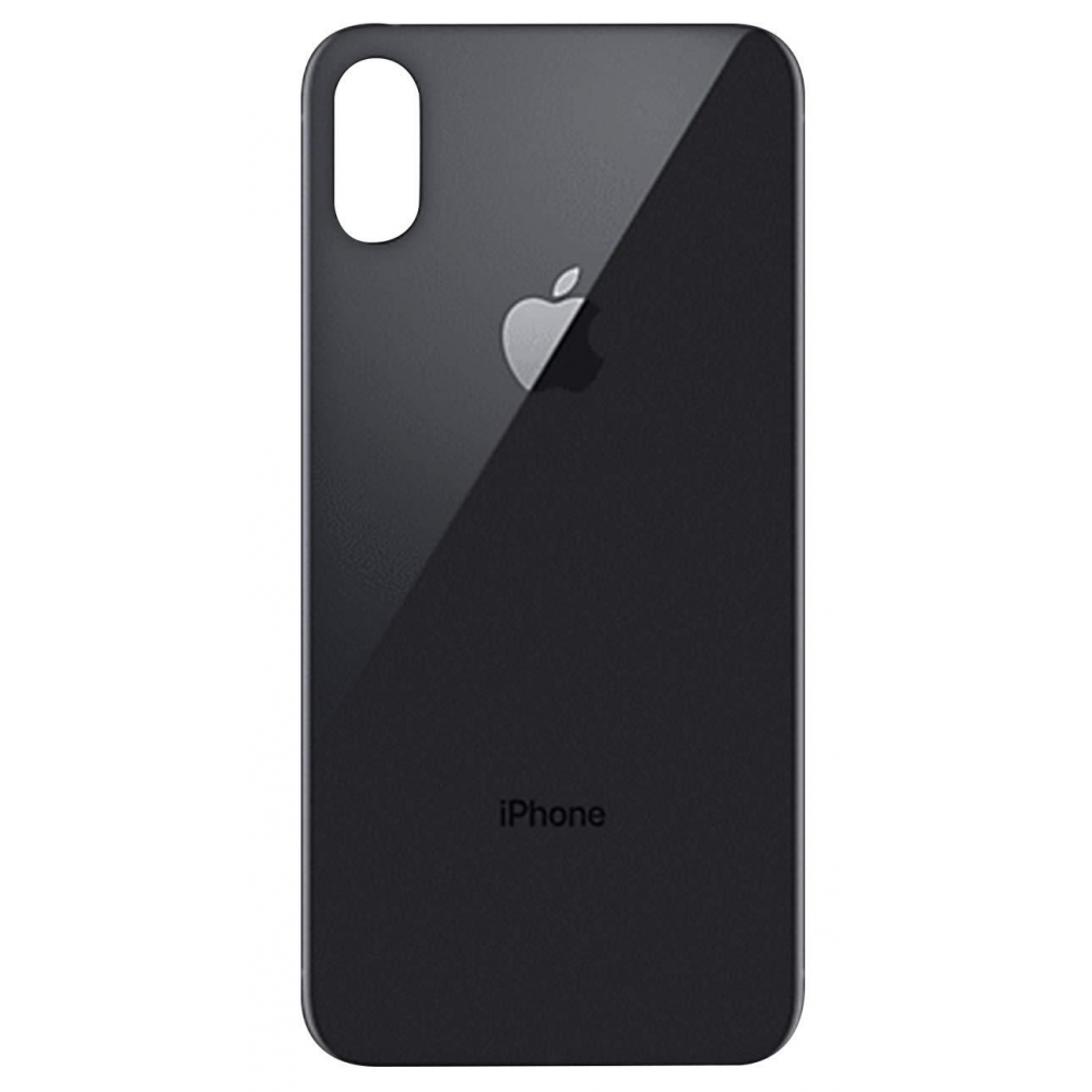 iPhone Xs Backcover Akkudeckel Rückschale Schwarz / Space Grey