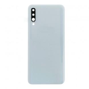 Samsung Galaxy A50 Backcover Akkudeckel Rückschale Weiss mit Kamera Linse und Kleber
