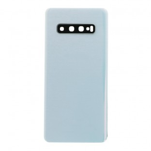 Samsung Galaxy S10 Plus Back Cover Battery Cover Back Shell Prism White with Camera Lens and Adhesive