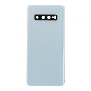 Samsung Galaxy S10 Plus Backcover Akkudeckel Rückschale Prism White mit Kamera Linse und Kleber