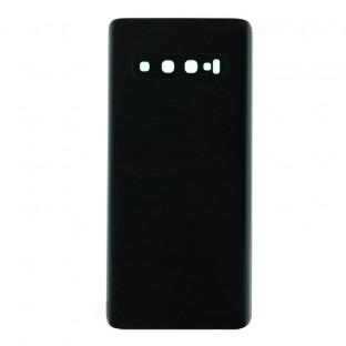 Samsung Galaxy S10 Backcover Akkudeckel Rückschale Schwarz mit Kamera Linse und Kleber
