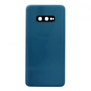 Samsung Galaxy S10e Backcover Akkudeckel Rückschale Blau mit Kamera Linse und Kleber