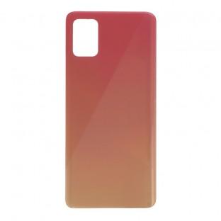 Samsung Galaxy A51 Backcover Akkudeckel Rückschale Pink mit Kleber