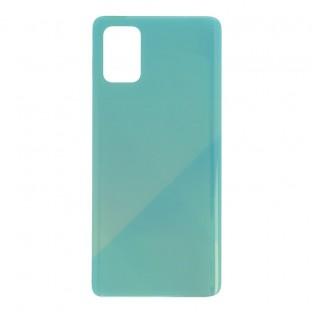 Samsung Galaxy A71 Backcover Akkudeckel Rückschale Blau mit Kleber
