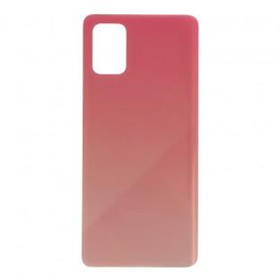 Samsung Galaxy A71 Backcover Akkudeckel Rückschale Pink mit Kleber
