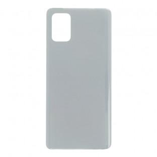 Samsung Galaxy A71 Backcover Akkudeckel Rückschale Silber mit Kleber