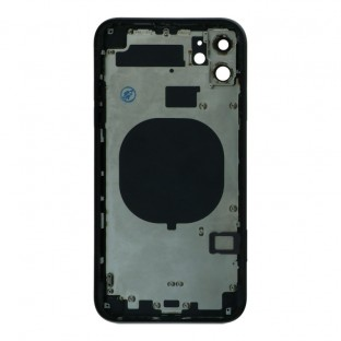 iPhone 11 back cover / back shell with frame and small parts pre-assembled black (A2111, A2221, A2223)