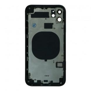 iPhone 11 Backcover / Rückschale mit Rahmen vormontiert Schwarz (A2111, A2221, A2223)