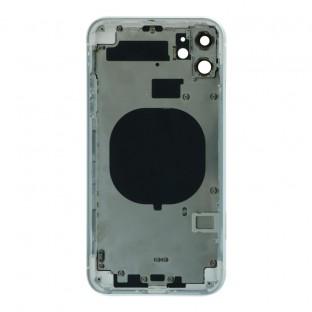 iPhone 11 Backcover / Rückschale mit Rahmen vormontiert Weiss (A2111, A2221, A2223)