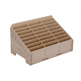 Smartphone storage box made of wood