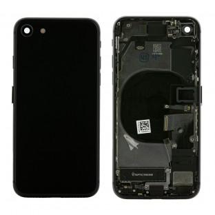 iPhone 8 Backcover / Rückschale mit Rahmen und Kleinteilen vormontiert Schwarz