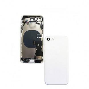 iPhone 8 Backcover / Rückschale mit Rahmen und Kleinteilen vormontiert Silber (A1863, A1905, A1906)