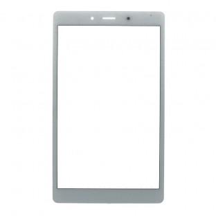 Verre avec cadre pour Samsung Galaxy Tab A 8.0 2019 (3G) Blanc