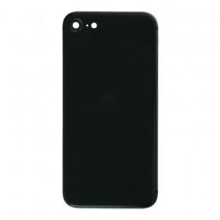 iPhone SE (2020) Backcover / Rückschale mit Rahmen vormontiert Schwarz (A2275, A2298, A2296)