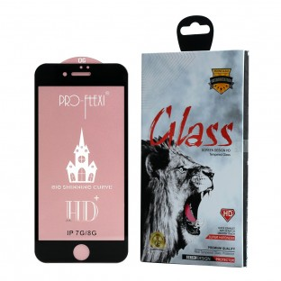 Premium Display Schutzglas für iPhone 7 / 8 mit Rahmen Schwarz